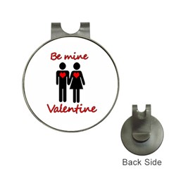 Be Mine Valentine Hat Clips With Golf Markers by Valentinaart
