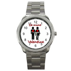 Be Mine Valentine Sport Metal Watch by Valentinaart
