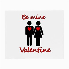Be Mine Valentine Small Glasses Cloth (2 Side) by Valentinaart