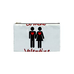 Be Mine Valentine Cosmetic Bag (small)  by Valentinaart