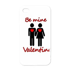 Be Mine Valentine Apple Iphone 4 Case (white) by Valentinaart