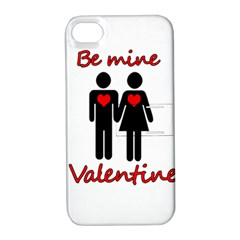 Be Mine Valentine Apple Iphone 4/4s Hardshell Case With Stand by Valentinaart