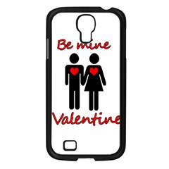Be Mine Valentine Samsung Galaxy S4 I9500/ I9505 Case (black) by Valentinaart