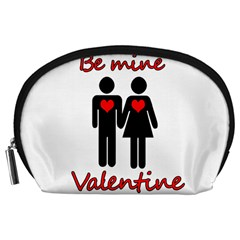Be Mine Valentine Accessory Pouches (large)  by Valentinaart
