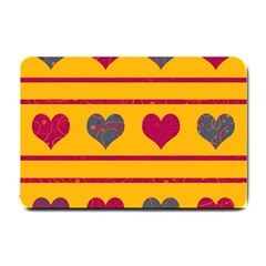 Decorative Harts Pattern Small Doormat  by Valentinaart