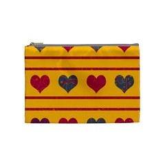 Decorative Harts Pattern Cosmetic Bag (medium)  by Valentinaart