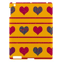 Decorative Harts Pattern Apple Ipad 3/4 Hardshell Case by Valentinaart