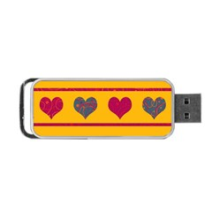 Decorative Harts Pattern Portable Usb Flash (one Side)