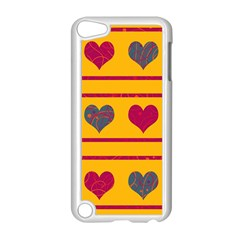Decorative Harts Pattern Apple Ipod Touch 5 Case (white) by Valentinaart