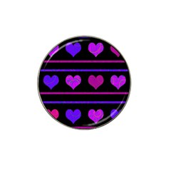 Purple And Magenta Harts Pattern Hat Clip Ball Marker by Valentinaart