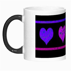 Purple And Magenta Harts Pattern Morph Mugs by Valentinaart