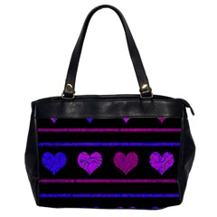 Purple And Magenta Harts Pattern Office Handbags by Valentinaart