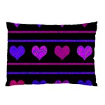 Purple and magenta harts pattern Pillow Case (Two Sides) Back