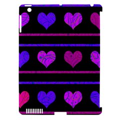 Purple And Magenta Harts Pattern Apple Ipad 3/4 Hardshell Case (compatible With Smart Cover) by Valentinaart