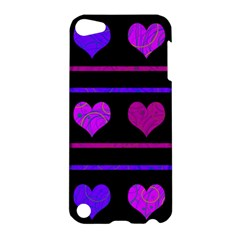 Purple And Magenta Harts Pattern Apple Ipod Touch 5 Hardshell Case