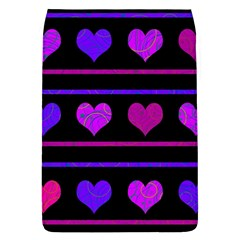 Purple And Magenta Harts Pattern Flap Covers (l)  by Valentinaart