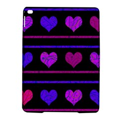 Purple And Magenta Harts Pattern Ipad Air 2 Hardshell Cases by Valentinaart
