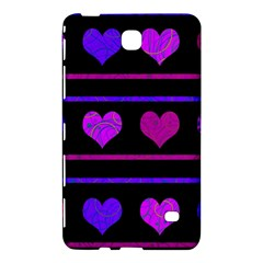 Purple And Magenta Harts Pattern Samsung Galaxy Tab 4 (7 ) Hardshell Case