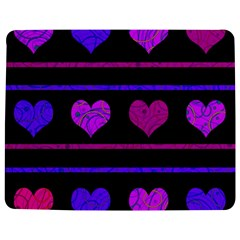 Purple And Magenta Harts Pattern Jigsaw Puzzle Photo Stand (rectangular) by Valentinaart