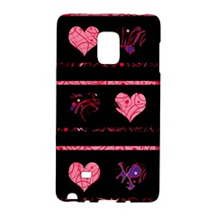 Pink Elegant Harts Pattern Galaxy Note Edge by Valentinaart