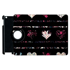 Elegant Harts Pattern Apple Ipad 3/4 Flip 360 Case by Valentinaart