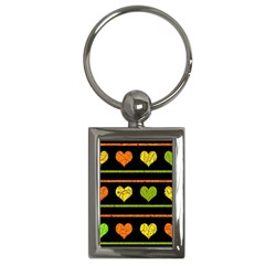 Colorful Harts Pattern Key Chains (rectangle)