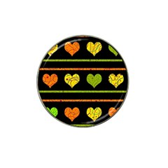 Colorful Harts Pattern Hat Clip Ball Marker by Valentinaart