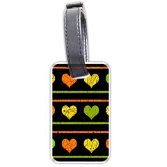 Colorful Harts Pattern Luggage Tags (one Side)  by Valentinaart