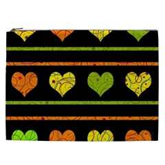 Colorful Harts Pattern Cosmetic Bag (xxl)  by Valentinaart