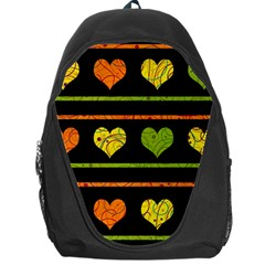 Colorful Harts Pattern Backpack Bag by Valentinaart