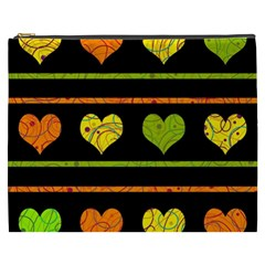 Colorful Harts Pattern Cosmetic Bag (xxxl)  by Valentinaart