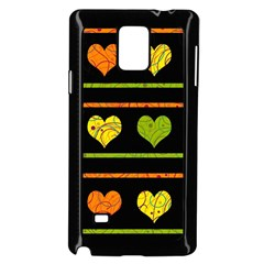 Colorful Harts Pattern Samsung Galaxy Note 4 Case (black) by Valentinaart