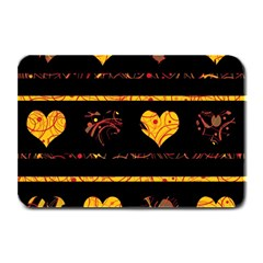 Yellow Harts Pattern Plate Mats by Valentinaart