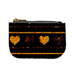 Yellow Harts Pattern Mini Coin Purses