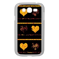 Yellow Harts Pattern Samsung Galaxy Grand Duos I9082 Case (white) by Valentinaart