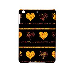 Yellow Harts Pattern Ipad Mini 2 Hardshell Cases by Valentinaart