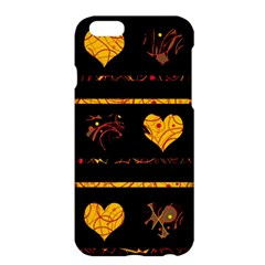Yellow Harts Pattern Apple Iphone 6 Plus/6s Plus Hardshell Case by Valentinaart