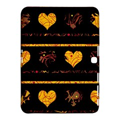 Yellow Harts Pattern Samsung Galaxy Tab 4 (10 1 ) Hardshell Case  by Valentinaart