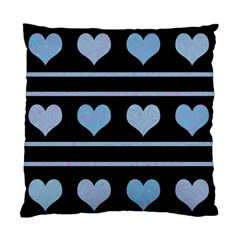 Blue Harts Pattern Standard Cushion Case (one Side) by Valentinaart