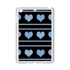 Blue Harts Pattern Ipad Mini 2 Enamel Coated Cases by Valentinaart