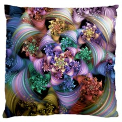 Pong Synth Curl Amorina 02 Whiskey 01 Peggi 05 Pstl Pz Pix Large Flano Cushion Case (two Sides) by WolfepawFractals