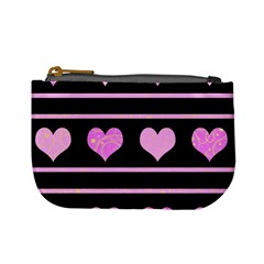 Pink Harts Pattern Mini Coin Purses