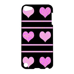 Pink Harts Pattern Apple Ipod Touch 5 Hardshell Case by Valentinaart