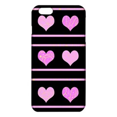 Pink Harts Pattern Iphone 6 Plus/6s Plus Tpu Case by Valentinaart