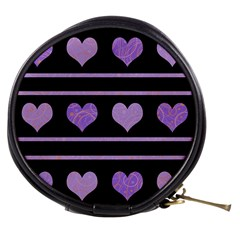 Purple Harts Pattern Mini Makeup Bags