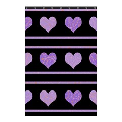 Purple Harts Pattern Shower Curtain 48  X 72  (small)  by Valentinaart