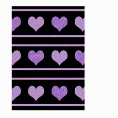 Purple Harts Pattern Large Garden Flag (two Sides)