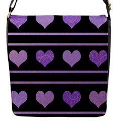 Purple Harts Pattern Flap Messenger Bag (s) by Valentinaart
