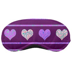 Purple Harts Pattern 2 Sleeping Masks