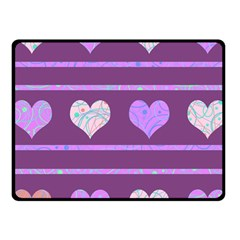 Purple Harts Pattern 2 Fleece Blanket (small)